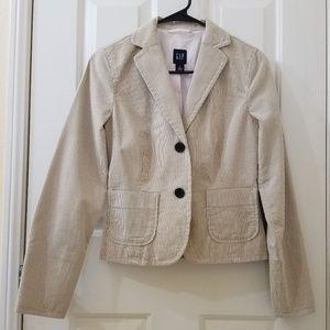 GAP Tan & Brown Pinstripe Casual Blazer/Jacket NWT